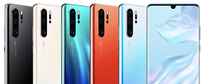 Huawei P30 Pro color variations